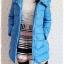 ((ขายแล้วครับ))((คุณพรทิพย์จองครับ))ca-2689 เสื้อโค้ทกันหนาวผ้าร่มขนเป็ดสีฟ้า รอบอก41 thumbnail 3