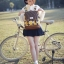 กระเป๋าเป้ยี่ห้อ Super Lover สไตล์เกาหลีใต้ ลายไข่วงกลมสีเหลือง มีช่องใส่โน้ตบุ๊ค (Preorder) thumbnail 5