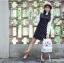 กระเป๋าเป้ยี่ห้อ Super Lover Orecchiette เกาหลีการ์ตูนสไตล์กระเป๋าเป้สะพายหลังน่ารัก (Preorder) ใบเล็กสีขาว thumbnail 6