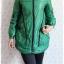 ca-2254 เสื้อโค้ทกันหนาวผ้าร่มสีเขียว รอบอก38 thumbnail 1