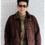 ((ขายแล้วครับ))((จองแล้วครับ))cm-96 เสื้อแจ๊คเก็ตกันหนาวผ้าชามัวร์สีน้ำตาล รอบอก45 thumbnail 3