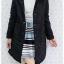 ((ขายแล้วครับ))((คุณThanchanokจองครับ))ca-2614 เสื้อโค้ทกันหนาวผ้าร่มสีดำ รอบอก40 thumbnail 3