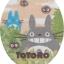 ผ้าครอบฝาชักโครก My Neighbor Totoro สีเบจ thumbnail 1