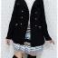 ((ขายแล้วครับ))((คุณWaawจองครับ))ca-2620 เสื้อโค้ทกันหนาวผ้าวูลสีดำ รอบอก34 thumbnail 3