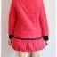 ((ขายแล้วครับ))((จองแล้วครับ))ca-2667 เสื้อโค้ทกันหนาวผ้าร่มสีแดง รอบอก40 thumbnail 2