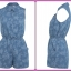 Miss selfridge denim Playsuit Size Uk10 thumbnail 1