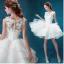(Pre-Order) ชุดแต่งงาน <แขนกุด> รหัสสินค้า WDS0104 thumbnail 1