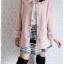((ขายแล้วครับ))((จองแล้วครับ))ca-2595 เสื้อโค้ทกันหนาวผ้าชามัวร์สีชมพู รอบอก42 thumbnail 3