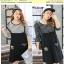 Preorder ชุดเอี๊ยมกระโปรงไซส์ใหญ่ สีขาว ดำ XL-4XL thumbnail 1