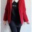 ((ขายแล้วครับ))((จองแล้วครับ))ca-2535 เสื้อโค้ทกันหนาวผ้าวูลสีแดง รอบอก38 thumbnail 3