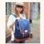 """กระเป๋าเป้สะพาย ยี่ห้อ Superlover สไตส์ญี่ปุ่น มีช่องใส่ Notebook14"""" สีน้ำเงินดอกไม้ (Pre-Order) thumbnail 11"""