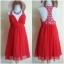 Lipsy Red Dress Uk10 thumbnail 1