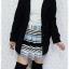 ((ขายแล้วครับ))((คุณMoonoiจองครับ))ca-2624 เสื้อโค้ทกันหนาวผ้าวูลสีดำ รอบอก36 thumbnail 3