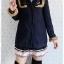 ((ขายแล้วครับ))((จองแล้วครับ))ca-2664 เสื้อโค้ทกันหนาวผ้าวูลสีกรมท่า รอบอก36 thumbnail 1