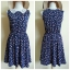 ASOS Floral Navy Skater Dress Size uk8 thumbnail 1