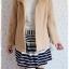 ((ขายแล้วครับ)) ca-2557 เสื้อโค้ทกันหนาวผ้าวูลสีกากี รอบอก41 thumbnail 3