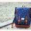 """กระเป๋าเป้สะพาย ยี่ห้อ Superlover สไตส์ญี่ปุ่น มีช่องใส่ Notebook14"""" สีน้ำเงินดอกไม้ (Pre-Order) thumbnail 3"""