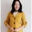 ((ขายแล้วครับ))((จองแล้วครับ))ca-2673 เสื้อโค้ทกันหนาวผ้าวูลสีเหลือง รอบอก32 thumbnail 1