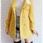 ((ขายแล้วครับ))((คุณPumpuiจองครับ))ca-2677 เสื้อโค้ทกันหนาวผ้าวูลสีเหลือง รอบอก36 thumbnail 3