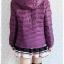 ((ขายแล้วครับ))((คุณจิดาภาจองครับ))ca-2642 เสื้อโค้ทกันหนาวผ้าร่มขนเป็ดสีม่วง รอบอก41 thumbnail 2