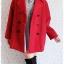 ((ขายแล้วครับ))((จองแล้วครับ))ca-2722 เสื้อโค้ทกันหนาวผ้าวูลสีแดง รอบอก46 thumbnail 3