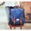 """กระเป๋าเป้สะพาย ยี่ห้อ Superlover สไตส์ญี่ปุ่น มีช่องใส่ Notebook14"""" สีน้ำเงินดอกไม้ (Pre-Order) thumbnail 9"""