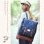 """กระเป๋าเป้สะพาย ยี่ห้อ Superlover สไตส์ญี่ปุ่น มีช่องใส่ Notebook14"""" สีน้ำเงินดอกไม้ (Pre-Order) thumbnail 12"""