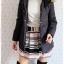 ((ขายแล้วครับ))((คุณอมรเทพจองครับ))ca-2687 เสื้อโค้ทกันหนาวผ้าร่มสีดำ รอบอก38 thumbnail 3