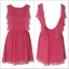 Rarelondon Chiffon Low pink Dress thumbnail 1