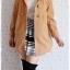 ((ขายแล้วครับ))((คุณKatจองครับ))ca-2682 เสื้อโค้ทกันหนาวผ้าวูลสีไขไก่ รอบอก34 thumbnail 3