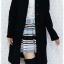 ((ขายแล้วครับ))((คุณSaimaneeจองครับ))ca-2628 เสื้อโค้ทกันหนาวผ้าวูลสีดำ รอบอก37 thumbnail 3