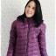 ((ขายแล้วครับ))((คุณจิดาภาจองครับ))ca-2642 เสื้อโค้ทกันหนาวผ้าร่มขนเป็ดสีม่วง รอบอก41 thumbnail 1