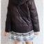((ขายแล้วครับ))((จองแล้วครับ))ca-2572 เสื้อแจ๊คเก็ตกันหนาวผ้าร่มขนเป็ดสีดำ รอบอก40 thumbnail 2