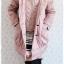 ((ขายแล้วครับ))ca-2630 เสื้อโค้ทกันหนาวผ้าร่มสีชมพูม่วง รอบอก36 thumbnail 3