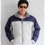 ((ขายแล้วครับ))((จองแล้วครับ))cm-104 เสื้อแจ๊คเก็ตกันหนาวผ้าร่มสีครีม รอบอก50 thumbnail 1