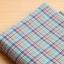 ผ้าคอตต้อนเกาหลี ลายตาราง Vintage Blue ผ้าฝ้าย 100% 30s ตัดขายขนาด 110x90 cm thumbnail 1