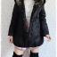 ((ขายแล้วครับ))ca-2633 เสื้อโค้ทกันหนาวผ้าร่มสีดำ รอบอก38 thumbnail 3