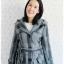 ((ขายแล้วครับ))((คุณPilineeจองครับ))ca-2661 เสื้อโค้ทกันหนาวผ้าถักลายเทาเขียว รอบอก34 thumbnail 1