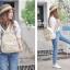 กระเป๋าเป้ยี่ห้อ Super Lover Sen Department of Small fresh canvas mini campus simple fashion Korea small bag (Preorder) thumbnail 5