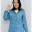 ((ขายแล้วครับ))((คุณNudchanaddaจองครับ))ca-2613 เสื้อโค้ทกันหนาวผ้าร่มสีฟ้า รอบอก38 thumbnail 1