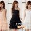 Preorder ชุดเดรสราตรีไซส์ใหญ่ สีชมพู ดำ ขาว XL-3XL thumbnail 1