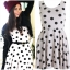 Topshop Polkadot Dress Size uk10-12 thumbnail 3
