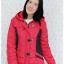 ((ขายแล้วครับ))((คุณPumpuiจองครับ))ca-2615 เสื้อโค้ทกันหนาวผ้าร่มสีแดง รอบอก38 thumbnail 1