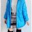 ((ขายแล้วครับ))((คุณTingtongจองครับ))ca-2638 เสื้อโค้ทกันหนาวผ้าร่มสีฟ้า รอบอก43 thumbnail 3