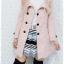 ((ขายแล้วครับ))((คุณMeemeeจองครับ))ca-2629 เสื้อโค้ทกันหนาวผ้าวูลสีชมพู รอบอก36 thumbnail 3