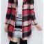 ((ขายแล้วครับ))ca-2621 เสื้อโค้ทกันหนาวผ้าถักลายแดงดำ รอบอก38 thumbnail 3