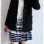 ca-2558 เสื้อโค้ทกันหนาวผ้าวูลสีดำ รอบอก34 thumbnail 3