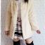 ((ขายแล้วครับ))((คุณatcharaจองครับ))ca-2693 เสื้อคลุมกันหนาวขนเฟอร์สีครีม รอบอก39 thumbnail 3
