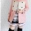 ((ขายแล้วครับ))((คุณพิจิตราจองครับ))ca-2651 เสื้อโค้ทกันหนาวผ้าวูลสีชมพู รอบอก34 thumbnail 3