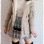 ((ขายแล้วครับ))((จองแล้วครับ))ca-2668 เสื้อโค้ทกันหนาวผ้าร่มขนเป็ดสีเขียวขี้ม้าอ่อน รอบอก37 thumbnail 3